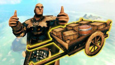Los vikingos de Valheim encuentran formas estúpidas de transportar objetos pesados
