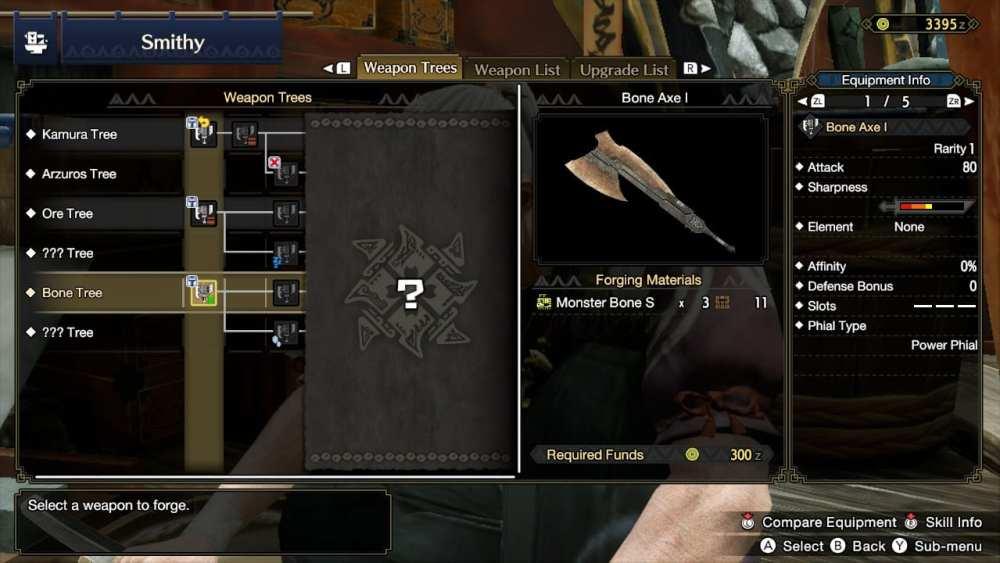 cazadores de monstruos mejoran armas