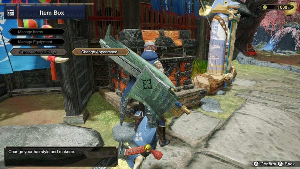 Monster Hunter Rise Cambiar la apariencia del personaje