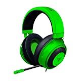 Razer Kraken - Auriculares para juegos (auriculares con cable para PC, PS4, Xbox One y Switch, controlador de 50 mm, conector de audio de 3,5 mm con control remoto en línea) verde
