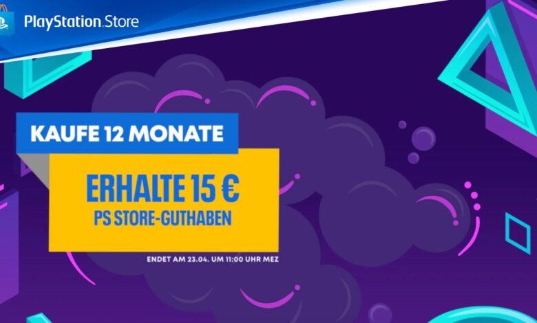 PS Store: si obtienes 12 meses de PS Plus ahora, recibirás 15 € de crédito gratis