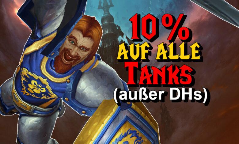 WoW: Todos los tanques se vuelven significativamente más fuertes, solo los cazadores de demonios no