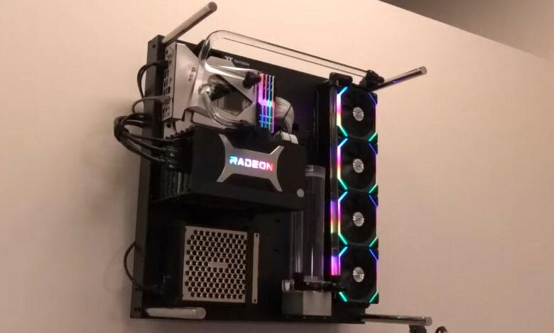 YouTuber monta su PC para juegos en la pared, tú también puedes