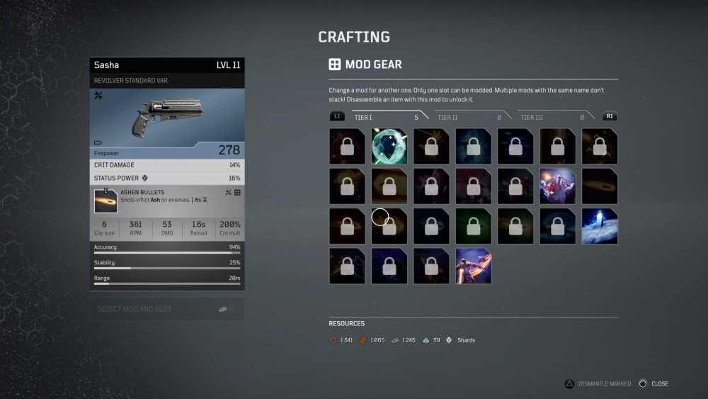 Outriders Cómo modificar armas y armaduras