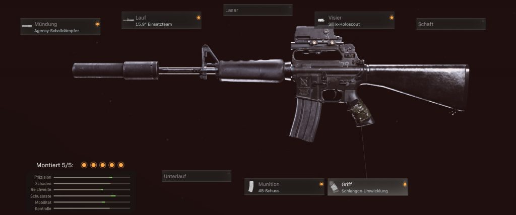 Configuración de cod warzone armas m16 como alternativa de AUG