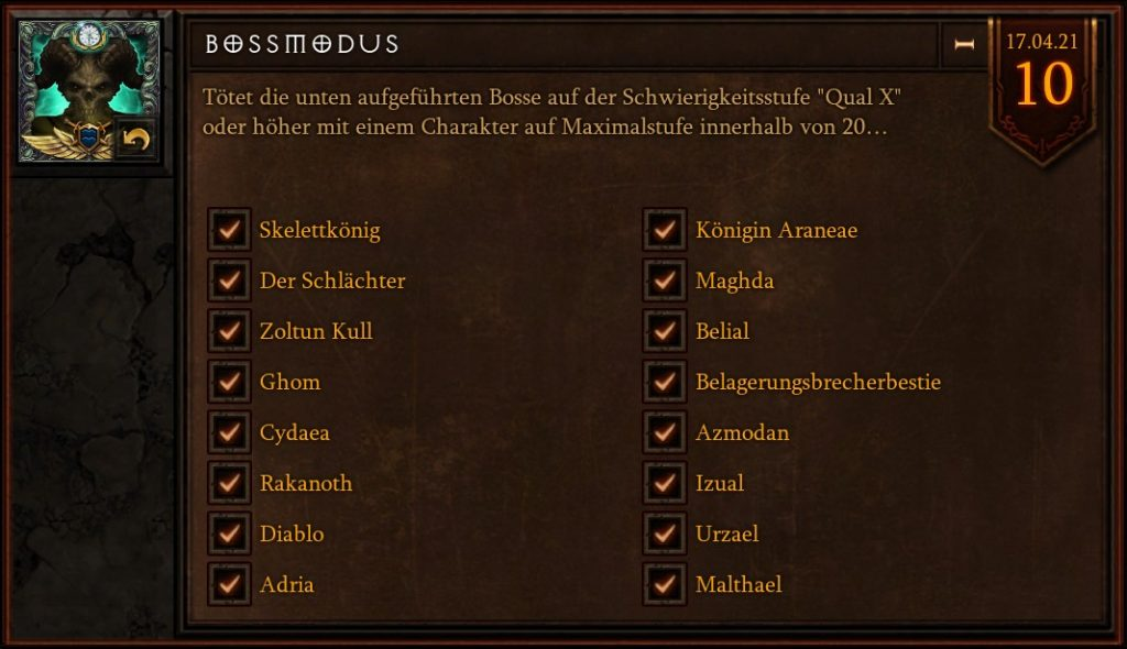 Diablo 3 Boss Mode Temporada 23