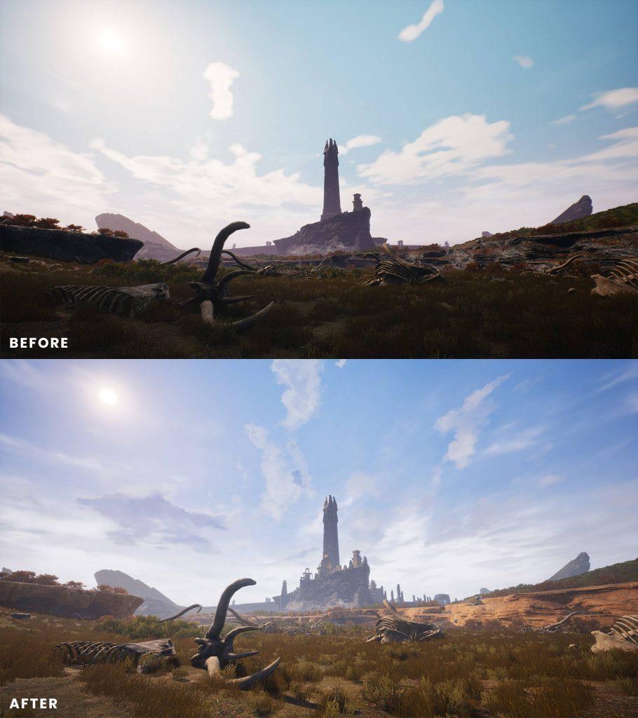 Conan Exiles Isle of Siptah antes y después de 2
