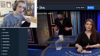 xQc transmite el casino frente a 120,000 personas en Twitch: no reciba todas las críticas