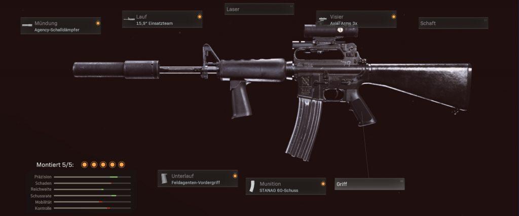 Configuración de cod warzone armas m16 según nerf
