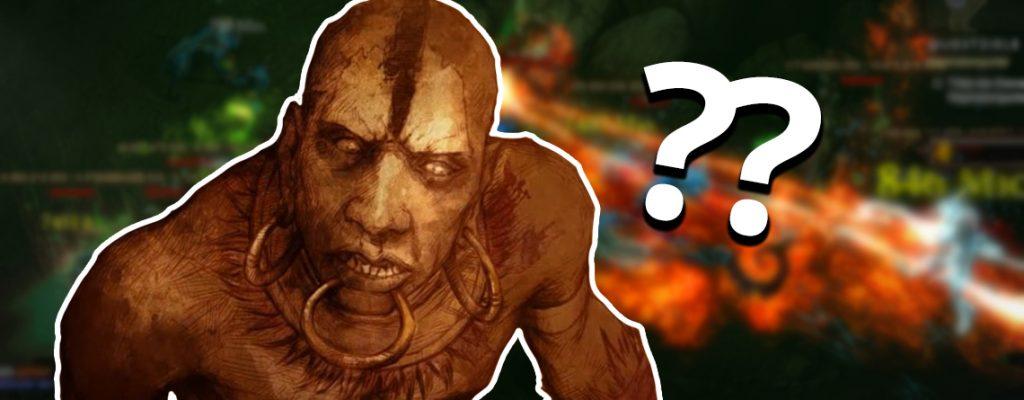 Título del signo de interrogación del médico brujo de Diablo 3