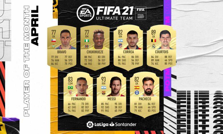 FIFA 21: Nominaciones de LaLiga al POTM de abril