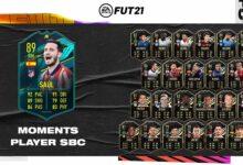 FIFA 21: SBC Saul Moments - Requisitos y soluciones