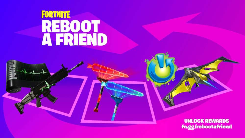 Recompensas Fortnite Reiniciar a un amigo