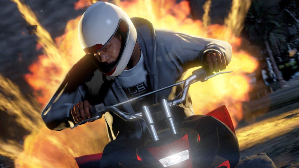 Explosión del título de motocicleta de GTA Online