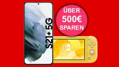 Galaxy S21 + con Nintendo Switch lite y 60 GB LTE barato en MediaMarkt
