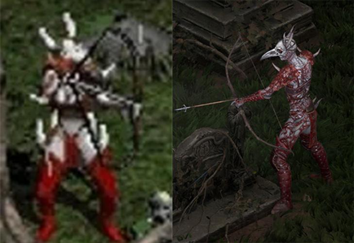 Comparación de Diablo 2 Blood Raven