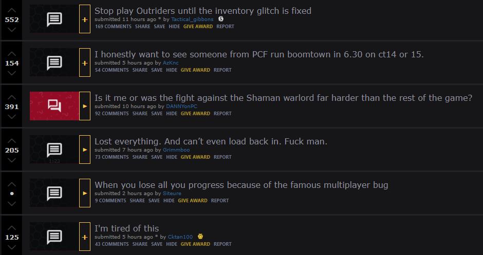 bug de botín de los escoltas reddit