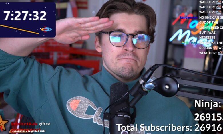 Ludwig transmite 31 días, rompe el sub-récord en Twitch - Ninja felicita con tristeza