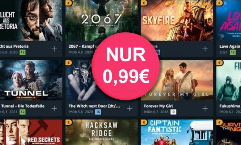 Oferta de Amazon: alquila 166 películas por 99 centavos cada una con Prime Video