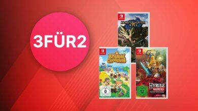 Oferta de MediaMarkt 3 por 2: compre 3 juegos de Nintendo Switch, pague 2