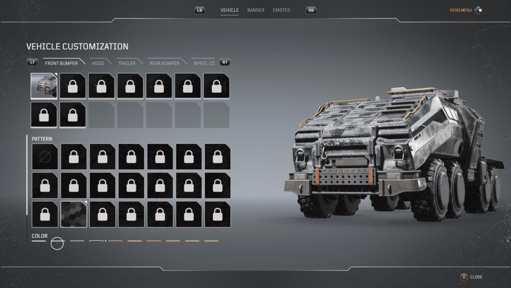 cómo personalizar el vehículo, los escoltas