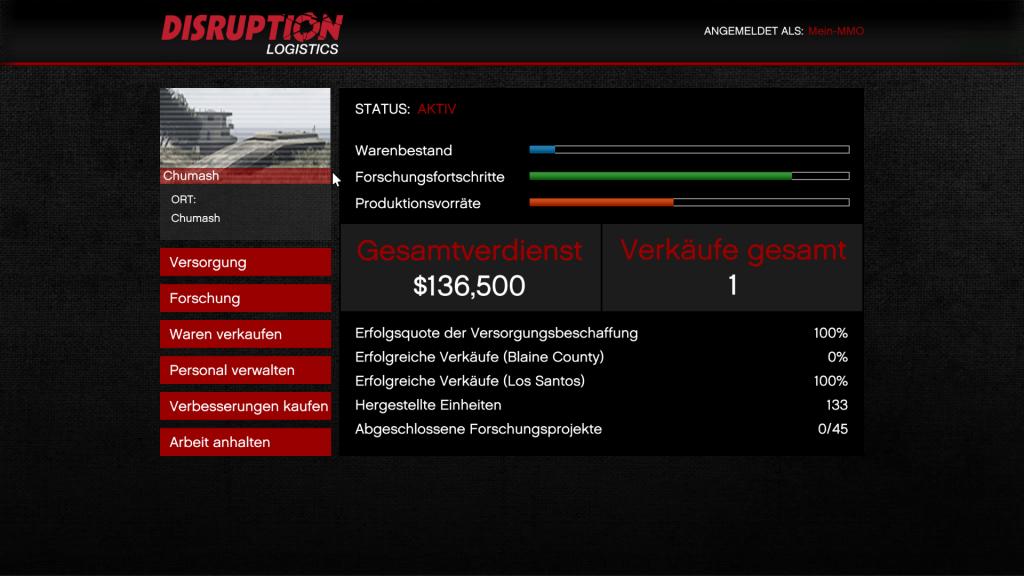 Ventas de tráfico de armas de GTA 5 Online