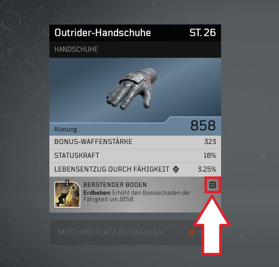 Marca de fabricación de guantes Outriders