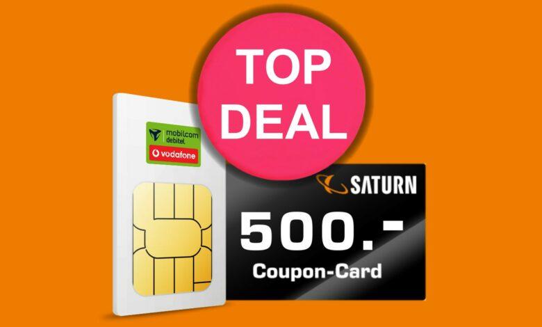Saturno con una oferta impresionante: bono de 500 euros para la tarifa LTE