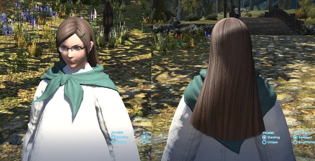 peinado de pelo largo ffxiv