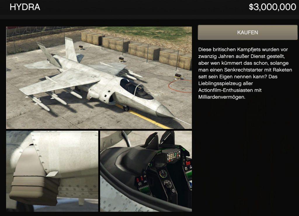 Hydra de GTA Online