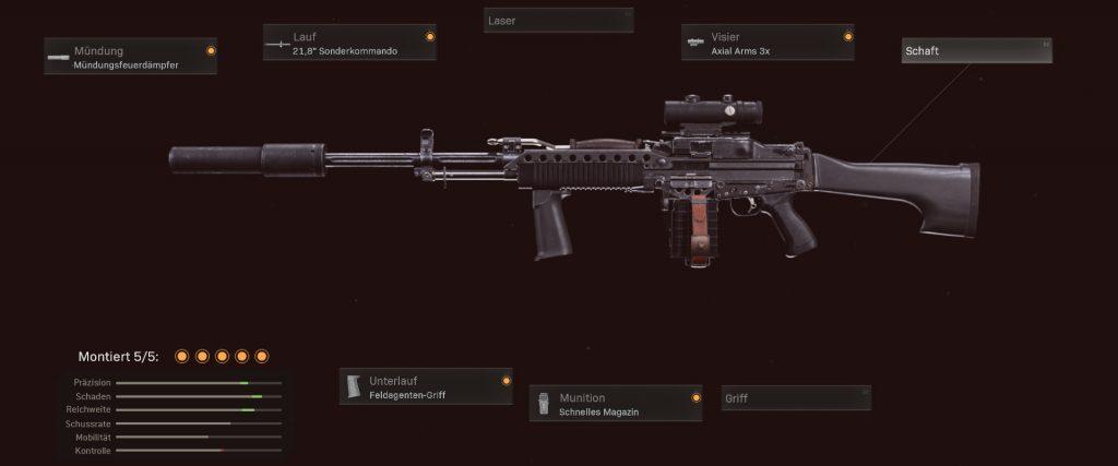 cod warzone stoner 63 configuración de equipamientos superiores temporada 3