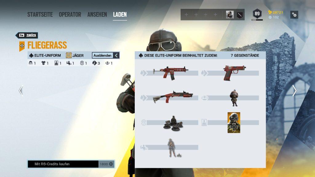 Complemento de cazador de pieles de élite de Rainbow Six Siege