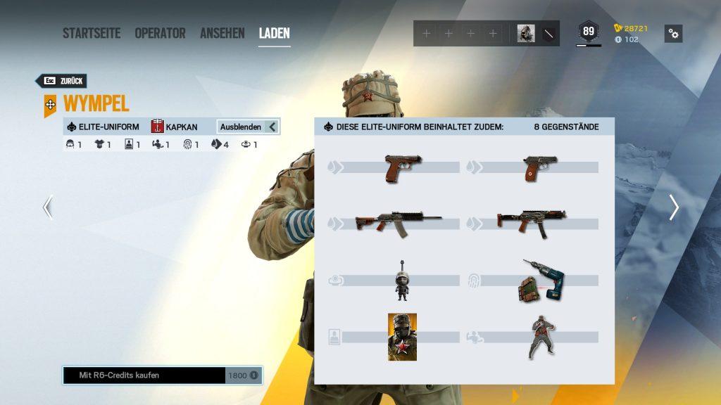 Complemento de Rainbow Six Siege Elite Skins Kapkan