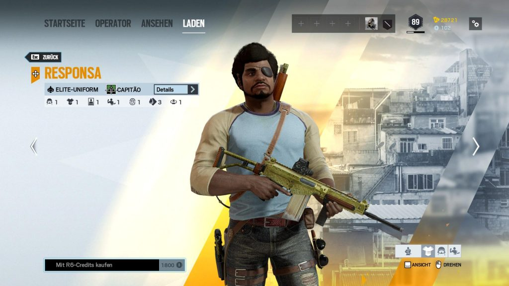 Rainbow Six Siege Elite Skins Capitao
