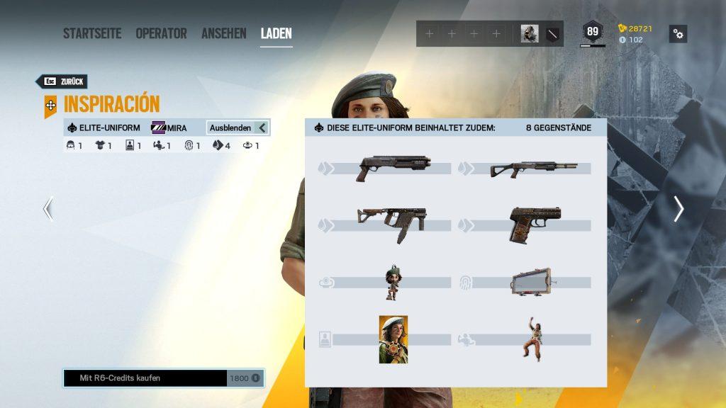 Complemento Mira de Rainbow Six Siege Elite Skins