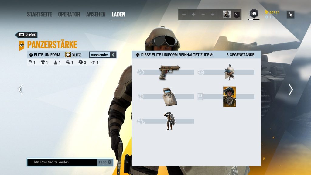Complemento de Rainbow Six Siege Elite Skins Blitz