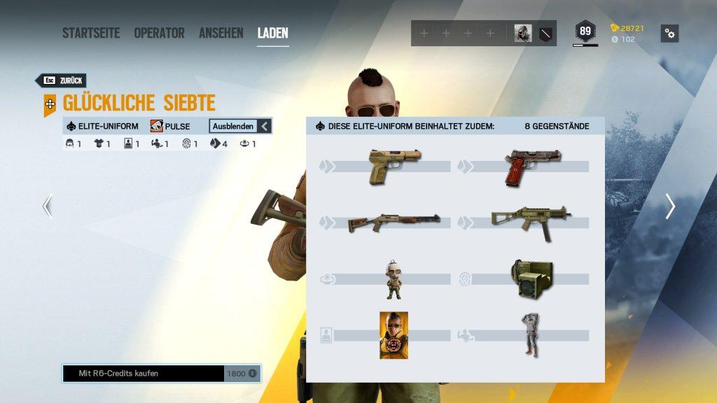 Complemento Rainbow Six Siege Elite Skins Pulse