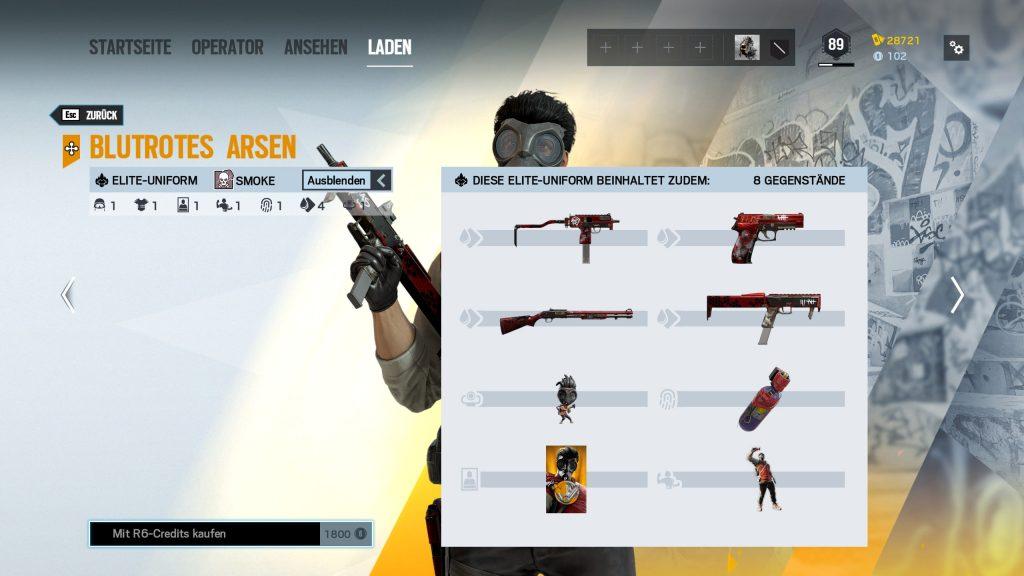 Complemento de Rainbow Six Siege Elite Skins Smoke