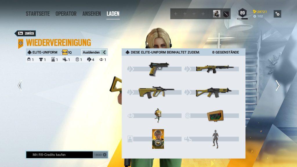 Complemento Rainbow Six Siege Elite Skins IQ