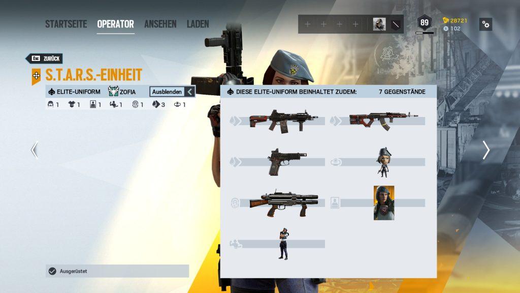 Complemento Rainbow Six Siege Elite Skins Zofia 2