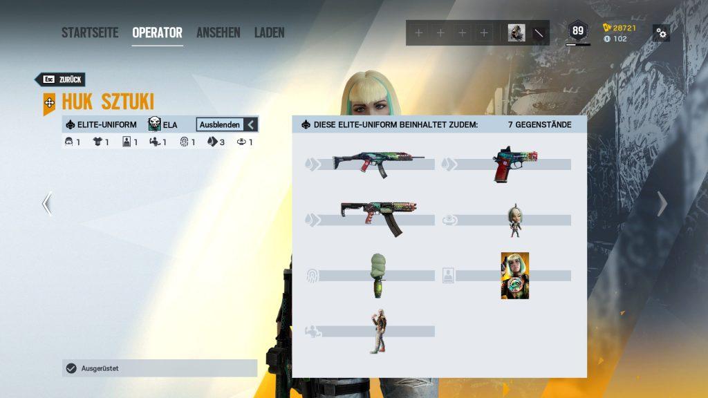Rainbow Six Siege Elite Skins Ela adición