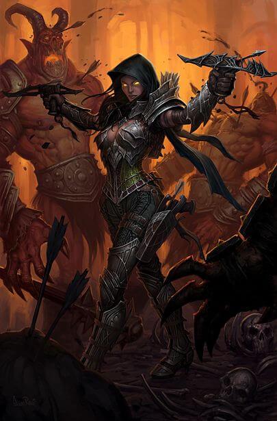 Obra de diablo 3 demon hunter