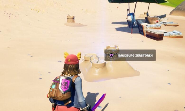 Fortnite: para que destruyas y construyas castillos de arena: todas las ubicaciones en el mapa