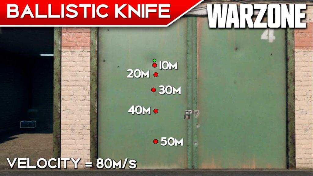 Bacalao armas de la zona de guerra rango de cuchillo balístico