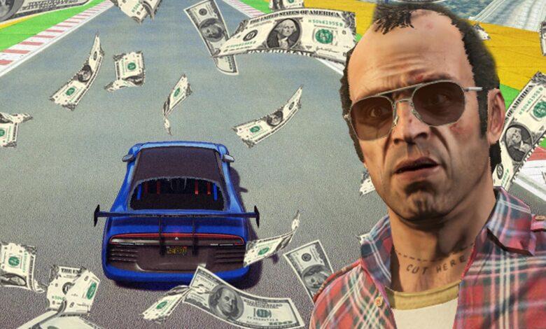 Ahora, en GTA Online, las carreras de acrobacias son una forma realmente fácil de ganar $ 100,000
