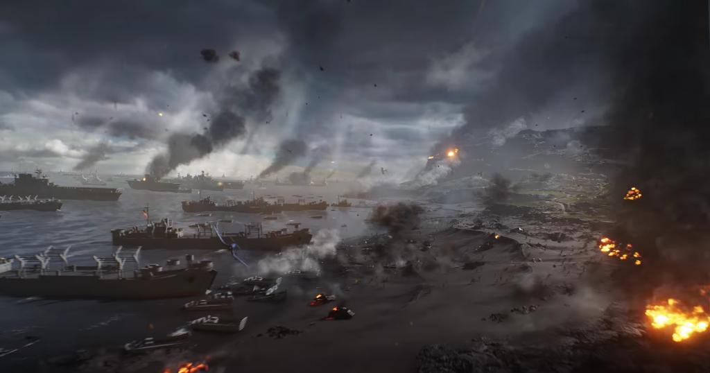 Perspectiva del tráiler de Battlefield 5 Pacific
