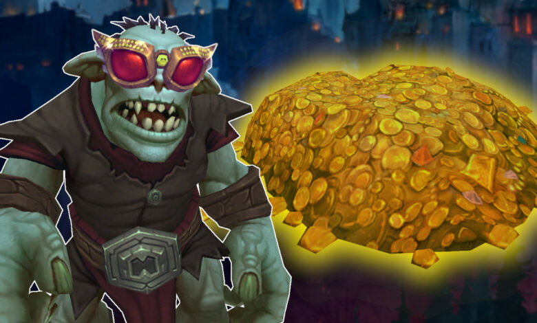 El NPC más rico de WoW te arroja oro en el parche 9.1, y es tu culpa
