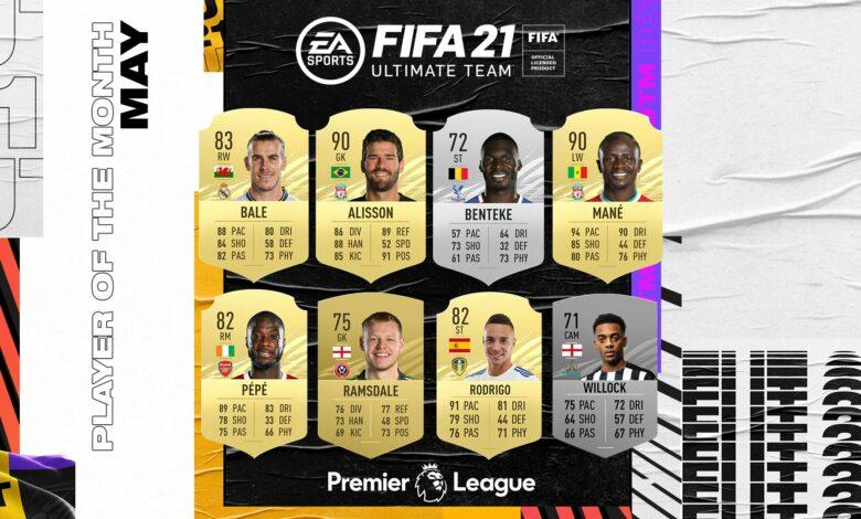 FIFA 21: Nominaciones POTM de mayo de la Premier League
