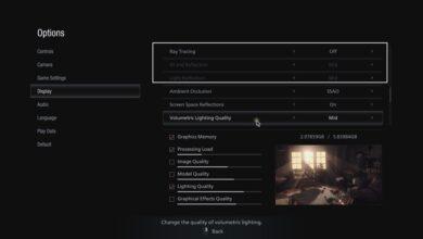 Resident Evil Village (RE8) - La opción Ray Tracing no funciona - Cómo solucionarlo