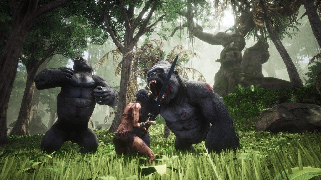 Captura de pantalla de Conan Exiles Swamp Exile vs.Gorilas